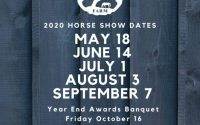 2020 Regular Series Show Dates Posted