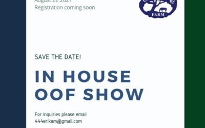 OOF In House Horse Show – August 22nd